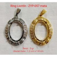 Batu Akik & Alam -) Ring Kalung Titan Liontin ikat batu akik per c Y82