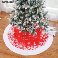 Gratis Ongkir Superain 122cm Merry Christmas Tree Skirt Apron Stand