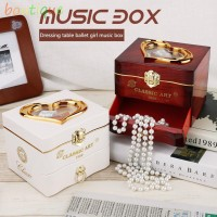 bou^㋡Classic Rotating Dancer Piano Music Box Clockwork Plastic