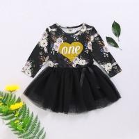 ✨Superseller✨Dress Mini Lengan Panjang Motif Bunga di Baju+Rok