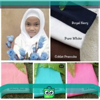 Jilbab polos anak segiempat non instan