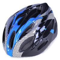 TaffSPORT Helm Sepeda EPS Foam PVC Shell Blue
