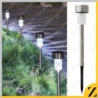 Lampu Taman Tancap Tenaga Matahari Surya Solar Cell LED stainless 37cm