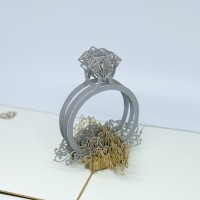 MURAH! KARTU UCAPAN 3D WEDDING RING CINCIN NIKAH KAWIN GREETING CARD