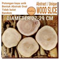 Abstract Wood Slice 27-29cm Potongan kayu unik abstrak talenan nampan