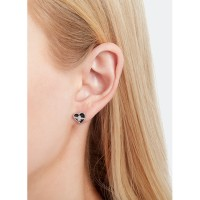 Anting Olivia Burton Love Bee Studs Black & Silver OBJLHE20