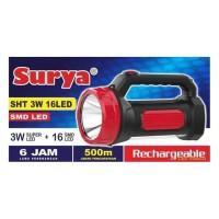 SENTER LED SURYA SHT 3W 16 LED ADA EMERGENCY