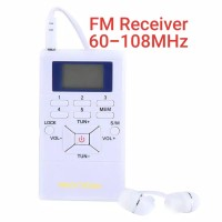 📻👍White 60-108MHz Stereo Digital FM Receiver. Radio FM Digital