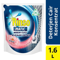 Rinso Matic Front Load + Softener (Molto) 1600 ml Detergen Cair