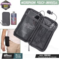 Tas Pouch Dompet Case Microphone - Mic Clip On Boya Rode - Android IOS