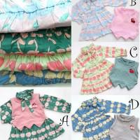 Baju Dress Anak Bayi Perempuan Set Bolero Fruits