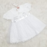 Baju Dress Anak Bayi Perempuan Dress Tutu Putih Helokitty