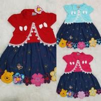 Baju Dress Anak Bayi Perempuan Baju Dress Semi Bolero Jeans Anak