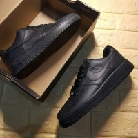 SEPATU NIKE AIR FORCE 1 07 FULL BLACK