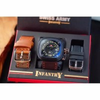 Jam Tangan Pria SET S-INFANTRY K2T64 l FREE 2 Strap & Box Exclusive