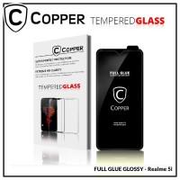 Realme 5i - COPPER Tempered Glass FULL GLUE PREMIUM GLOSSY