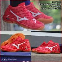 Sepatu volly mizuno merah - mizuno wave tornado premium original