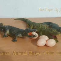 Mainan Animal Buaya +telur buaya