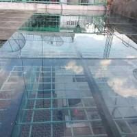 kanopi atap kaca tempered glass 10mm tahan kuat
