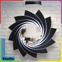 CERMIN DINDING AKRILIK 30x30. Dekorasi rumah, model kincir 02 series