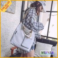 Korea slingbag slempang kanvas Canvas Women SLing Bag Tas Selempang