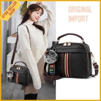 Tas Selempang slempang cewek slingbag Korea Wanita Kulit PU sling bag