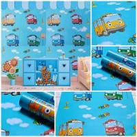 Wallpaper Sticker Dinding Karakter Mobil Tayo