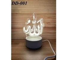 Lampu Tidur Hias LED 3D Transparan 3 Lampu Hias Akrilik meja animasi