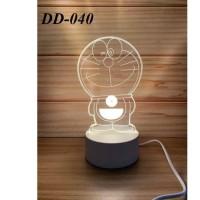 Lampu Tidur Hias LED 3D Transparan Lampu Hias Akrilik LED animasi mala