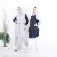 Baju Atasan Blouse Wanita Baju Muslim Blus Muslim Milla Tunik