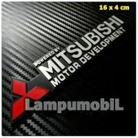 Metal Emblem Logo Powered By MITSUBISHI Motor Development Terbaru &