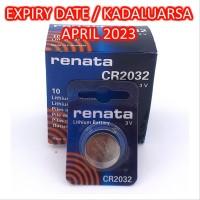 ORIGINAL CR2032 3V Button Cell Baterai Kancing Renata Lithium Ba