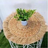 placemat enceng dongok rumbai diameter 40 cm