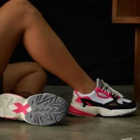 Adidas Falcon Women Black White Pink