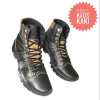 Sepatu Boot Pria Kulit Asli, Touring, Gunung, Non Safety Murah Bks011
