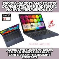 LAPTOP ASUS E402YA AMD E2 RAM 4GB HDD 1TB LAYAR 14INCH WIN 10 ORIGINAL