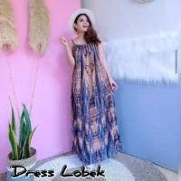 DRESS LOBEK PANJANG BALI / DASTER PAYUNG LOBEK JUMBO LD 130 CM