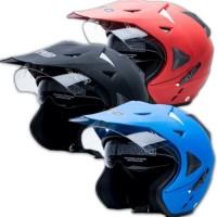 Helmet Pro Sight Cross Polos Biru Doff Size M