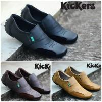 Sepatu Kickers Predator Slip On Pria Casual Slop Formal Kerja Kantor