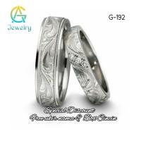 Cincin Couple Palladium Sepasang Cincin Kawin Tunangan Perak G-192