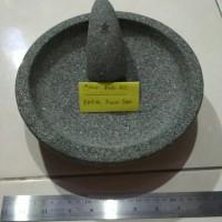 1 set Cobek Bubut Batu Asli 17/18cm