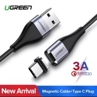 Ugreen Magnetic Cable Fast Charging Kabel Data Type C dan Micro USB