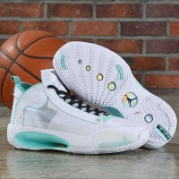 Sepatu Basket Nike Air Jordan 34 Snow Leopard White Blue