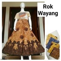 rok batik wayang - rok batik - bawahan batik wanita