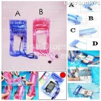 GANTUNGAN TEMPAT SOFT CASE PLASTIK HANDPHONE PINK FANTA BIRU U457