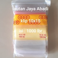 plastik klip uk 10x15 (isi 1000 lbr) plastik obat, plastik zipper