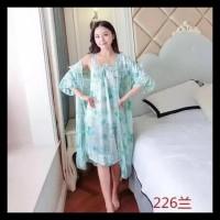 KIMONO FLOWER JUMBO DRESS IMPORT KODE 592