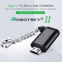 Robotsky Female Type-C to Male Micro USB Adapter Converter OTG