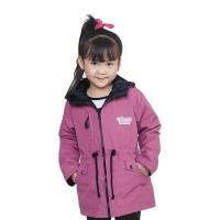 Jaket Anak Perempuan Model Winter Mantel Musim Dingin Junior - Pink