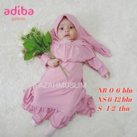 gamis bayi perempuan newborn aqiqah baju muslim bayi anak